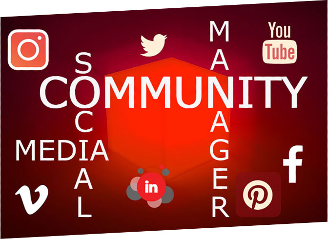 community, manager, social, media, instagram, facebook, linkedin, youtube, linkedin